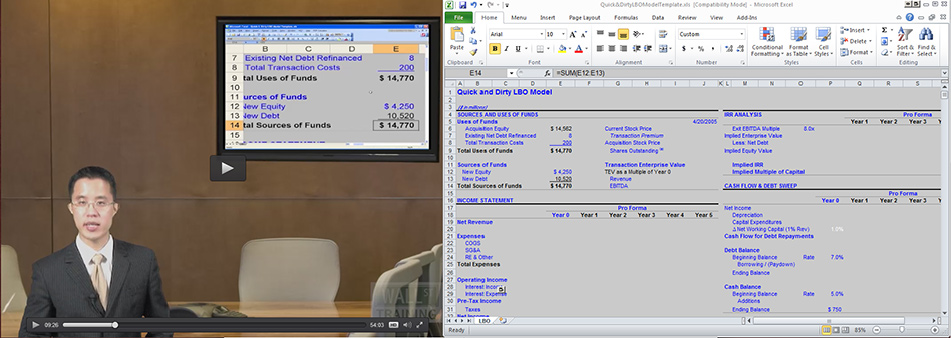Self-Study Courses in Financial Modeling and Excel | Wall